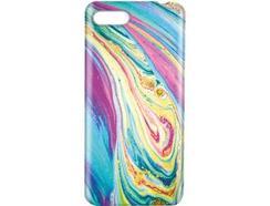 Capa iPhone 6, 7, 8 KOVERMANIA Marble07 Multicor