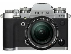 Kit Máquina Fotográfica Mirrorless FUJIFILM X-T3 + XF18-55mm + XF55-200mm (Prateado – 26.1 MP – Sensor: APS-C – ISO: 80 – 51200