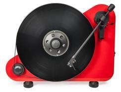 Gira-discos BT PRO-JECT Vte-r Vermelho