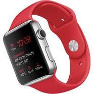 Apple Watch 42 Aço Inoxidável | Bracelete Sport Vermelha