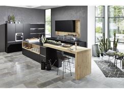 Cozinha Moderna Wood Preta