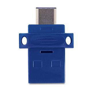 Pen USB VERBATIM Dual (64 GB – USB 3.0 – Preto)