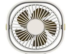 Ventoinha QUSHINI Mini Desk Fan em Branco