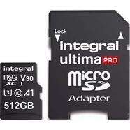 Cartão de Memória Integral Micro SDXC Ultima Pro 512 GB + Adaptador