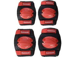 Kit Proteção KAWASAKI KX100495 Vermelho M (Joelheiras + Cotoveleiras)