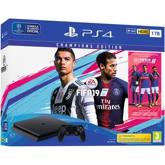 Consola PS4 Slim de 1 TB + FIFA 19 Champions Edition + 14 Dias PS Plus