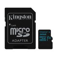 Kingston Canvas Go 90R/45W U3 UHS-1 microSDHC V30 32GB CL10 + Adaptador SD