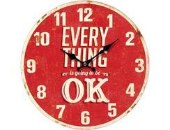 Relógio Parede BHP B991433 Vermelho