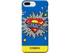 Capa iPhone 6 Plus, 6s Plus, 7 Plus, 8 Plus ICEBERG Superman Azul