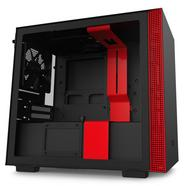 Caixa PC NZXT H210 (Mini ITX Tower – Preto Fosco, Vermelho)