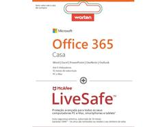 Software MICROSOFT Office Home + Antivírus MCAFEE Livesafe