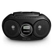 Rádio Boombox CD PHILIPS AZ215B/12 (Preto – Digital – FM – Pilhas e Corrente)