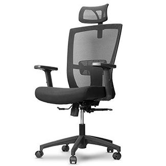 Cadeira ergonómica mfavour com braços ajustáveis