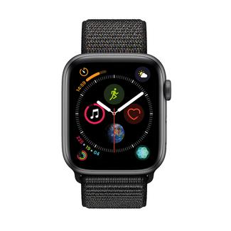 Apple Watch Series 4 44mm – Alumínio Cinzento | Bracelete Loop Desportiva – Preto