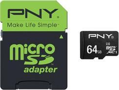 Cartão de Memória MicroSD PNY 64gb CL10 High Performance 80MB