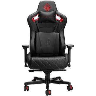 Cadeira Gaming HP OMEN Citadel (Até 136 kg – Elevador a Gás Classe 4 – Preto e Vermelho)