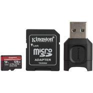 Cartão de Memória MicroSD KINGSTON React Plus (128 GB – Class 10, UHS-II, U3, V90, A1)
