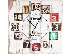 Relógio Parede BHP B991060 nº Árabe Branco