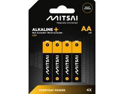 Pilhas Não Recarregáveis MITSAI LR6(AA – 4 Unidades)