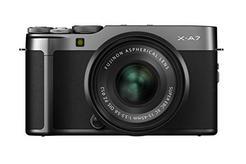 Kit Máquina Fotográfica Mirrorless FUJIFILM X-A7 + XC15-45mm (Preto – 24.2 MP – Sensor: APS-C – ISO: 100 a 51200)