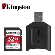 Cartão de Memória SD KINGSTON React Plus (32 GB – Class 10, UHS-II, U3, V90)