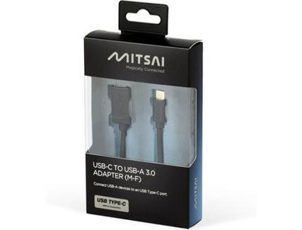 Adaptador MITSAI (USB-C – USB 3.0 – Preto)