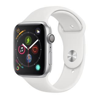 Apple Watch Series 4 40mm – Alumínio Prateado | Bracelete Desportiva – Branco