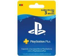 Cartão de Carregamento PlayStation Plus de 3 Meses