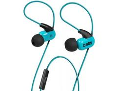 Auriculares In-Ear SBS Sport Runway Ghost Azul
