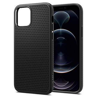 Capa Spigen Liquid Air para iPhone 12, iPhone 12 Pro Preto