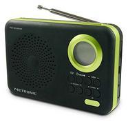 Rádio METRONIC 477209 (Preto / Verde – Digital – AM/FM – Pilhas)