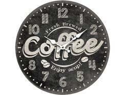 Relógio Parede BHP B991432 Coffee Preto