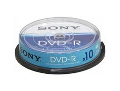 Pack de 10 DVD-R SONY (16x – 4.7 GB)