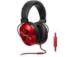 Auscultadores Com fio PIONEER SE-MS5T-R (Over Ear – Microfone – Vermelho)