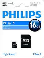 Cartão de memória Micro SDHC PHILIPS FM16MP35B (16 GB, Classe 4)