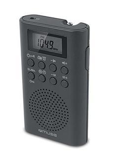 Rádio MUSE M-02R (Preto – PLL – AM/FM – Pilhas)