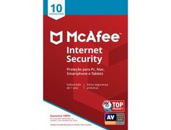 Software MCAFEE Internet Security (10 Dispositivos – 1 ano – PC, Mac, Smartphone e Tablet – Formato Digital)