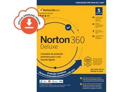 Software NORTON 360 Deluxe 50GB (5 Dispositivos – 1 Ano – Smartphone, PC e Tablet – Formato Digital)