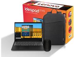 Bundle Ultrafino LENOVO Ideapad (Portátil S145-15IWL-408 + Mochila + Rato M170)