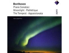 CD Maria João Pires – Beethoven Piano Sonatas: Moonlight Pathétique The Tempest Appassionata (1CD)