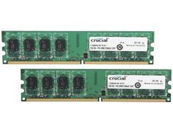 Memória RAM DDR2 CRUCIAL 4 GB (1066 MHz – CL 7 – Verde)