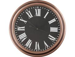 Relógio Parede BHP B990936 Romano preto/cobre