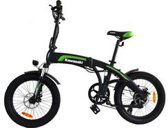 Bicicleta Elétrica KAWASAKI KBAF20 (Autonomia: 35 km | Velocidade Máx: 25 km/h)