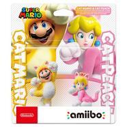 Figura Amiibo Mario Gato e Peach Gata (Pack duplo)