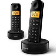 Telefone Fixo Philips Duo D1602W/34 Preto