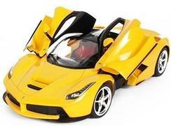 Carro Telecomandado R/C RIDE ON TECH Ferrari Amarelo (Idade Mínima: 8 – Até: 12 km/h)