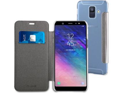 deedb2eb0 Capa MUVIT Folio Samsung Galaxy A6 2018 Prateado — Comparador ZWAME