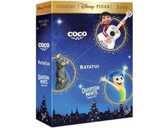 DVD Pack Coco, Ratatui e Divertidamente