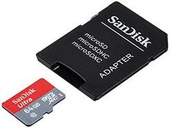 Cartão de Memória MicroSDHC SANDISK 64GB c/ adaptador Class10