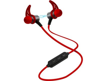 Auriculares SBS Sport Magnetic Runner Vermelho